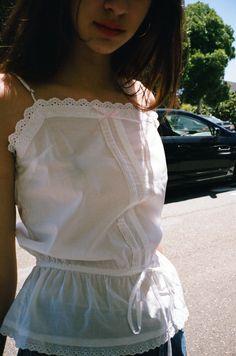 Marie Antoinette Cotton Lingerie Set - White