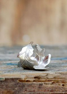 Silver LEAF Ring Romantic Vintage Style Leaf