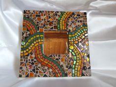 Spiegel, Mosaik-Spiegel, Mosaikkunst, Mosaikkunsthandwerk Mirror Mosaic, Mosaic Art, Mosaic Glass, Mirror Mirror, Mosaic Supplies, Garden Art, Abstract, Frame, Mosaic Ideas