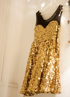 gold dress @Stephanie Steinhauer
