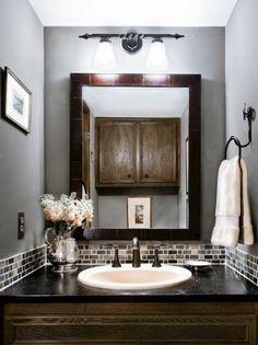 modern bathrooms elegantly large mirror great design