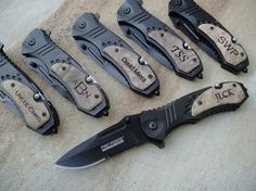 Personalized MTech Folding Knife Personalized by EngraveMeThis