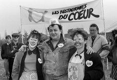 Création des restos du cœur par Coluche, 1985