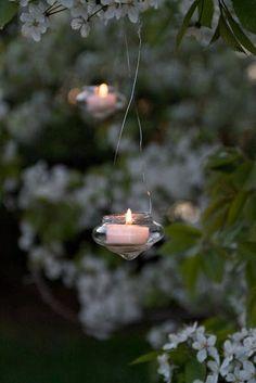 garden lighting....romantic ❥Repinned by www.huttonandhutton.co.uk