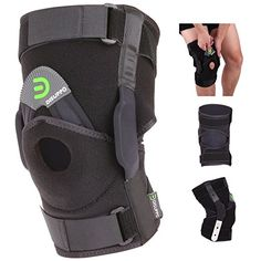 DISUPPO Hinged Knee Brace, Compression Knee Support, Adjustable Open-Patella Stabilizer for Sprains, Ligament Tear, Ligament Injury, Sprain, Knee Injury, Arthritis, Nylons, Aching Knees, Hinged Knee Brace, Knee Compression Sleeve