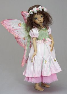 "Trinity 14/"" Porcelain Fairy Duck House Heirloom Doll with Moss Pad"