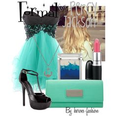 A fashion look from May 2013 featuring peep-toe pumps, summer bags and pendant necklaces. Browse and shop related looks. Greek Outfits, Blue Outfits, Cool Outfits, Fandom Fashion, All Fashion, Luxury Fashion, Wonder Land, Some Like It Hot, Greek Clothing