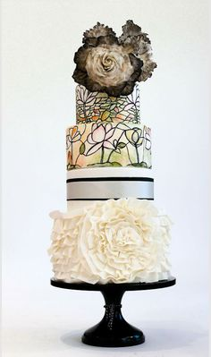@ovenart's take on a stained glass #weddingcake | Brides.com