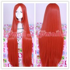 100cm long orange-red straight cosplay hair wig ML161 [ML161] - $18.11 : Fasion jewelry promotion store,Shop cheap fashion jewelry and cosplay wigs at www.favorwe.com