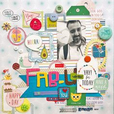 Scrapdiary + Goodies + Pebbles = Happy Birthday! Cool Cats, Bff, Goodies, Happy Birthday, Kids Rugs, Scrapbook, Cool Stuff, Instagram, How To Make