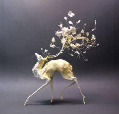 Petal deer by creaturesfromel.deviantart.com on @deviantART