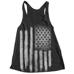 AMERICAN FLAG Women Tank Top American Apparel Triblend Racerback Tank... ($18) ❤ liked on Polyvore featuring tops, tank tops, shirts, tanks, american flag tank, racerback tank, racer back tank, slimming tank top and american flag racerback tank