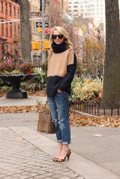 Denim: Current/Elliott | Shoes: Madewell | Sweater: Otte 'Nancy' c/o.