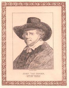 "Thomas Girtin ""Portrait of John Van Goyen"" Etching #Realism #etching #ThomasGirtin #art #print"