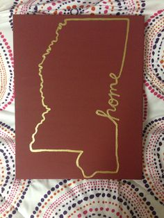 Mississippi State HOME Canvas on Etsy, $15.00