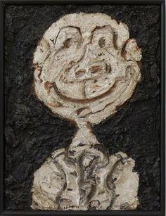 Jean Dubuffet: Personnage hilare (Portrait de Francis Ponge), 1947, oil on plaster on cardboard, 60,5 x 45,5 cm, collection Stedelijk Museum Amsterdam, donation of the artist