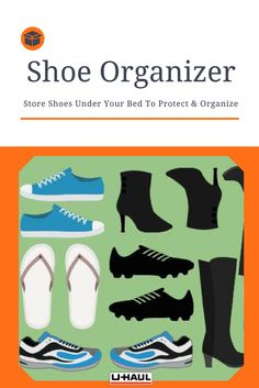 Use a U-Haul Shoe Organizer to keep shoes organized and in mint condition! Store under your bed & keep your shoe game untouchable. Organize your shoes in a compact and convenient way. Keep Shoes, Your Shoes, U Haul Truck, Shoe Organizer, Shoe Storage, Organizing Your Home, Diy Organization, Store Design, Getting Organized