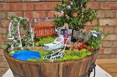 We created a miniature garden to celebrate the birth of the Royal Baby