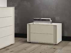 Solid wood bedside table with drawers NUVOLA by Domus Arte design Alberto Florian