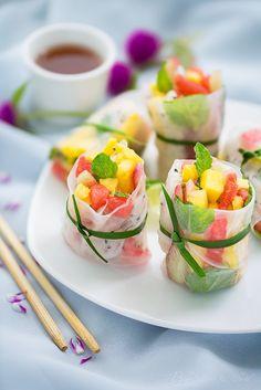 exotic fruits spring rolls por Begirl all over the world