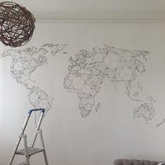 Papier peint intissé 350x270 cm - Top vente - Papier peint - Tableaux - muraux - déco - XXL - 350x270 cm la carte du monde - 10040910-65