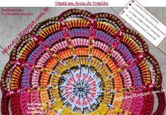Crochet Triangle Pattern, Crochet Circles, Crochet Stitches Patterns, Crochet Designs, Crochet Cup Cozy, Crochet Mat, Love Crochet, Crochet Doilies, Crochet Home Decor