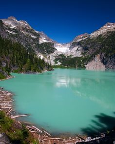 Blanca Lake, Washington. Beautiful lake, intense hike; something like 2700 ft. elevation gain in three miles