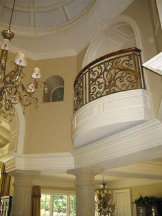 Custom Home: Foyer Balcony