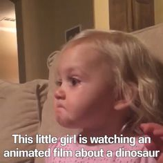 Little Girl Watching Animated Film. And Gets Really Emotional. A Little Girl Watching Animated Film. And Gets Really Emotional.