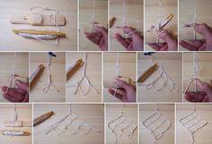The making of nets Filet Crochet, Irish Crochet, Crochet Lace, Yarn Crafts, Diy And Crafts, Net Bag, Lacemaking, Needle Lace, String Art