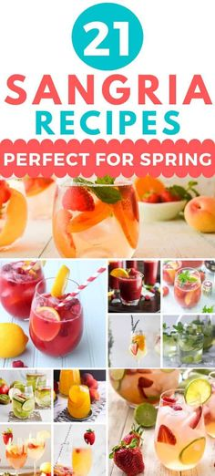 21 Delicious Spring Sangria Recipes - Here are 21 Delicious Spring Sangria Recipes- good luck deciding which one to create first! How to make sangria for spring. Fruity Sangria Recipe, Sangria Mix, Apple Sangria, Summer Sangria, Peach Sangria, Sangria Recipes, Summer Cocktails, White Sangria, Margarita Recipes