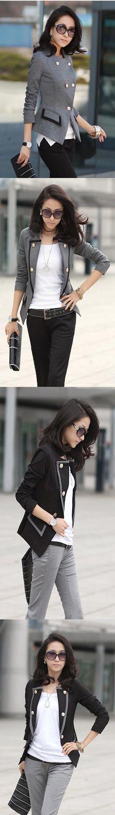 Contrast Military Blazer