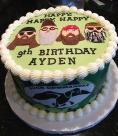 Birthday Cakes - Duck Dynasty @Jenn L Garza we should do this for Josh's birthday!