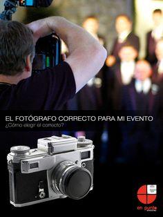 El fotógrafo indicado para tu evento