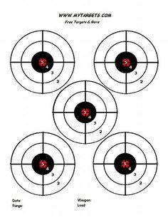 free printable shooting target # 36