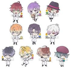 First-Edition-Diabolik-Lovers-Rubber-Strap-SET-YUI-Japan-Ayato-Laito-Shu-Yuma