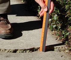 CONCRETE: How to Repair Raised and Uneven Concrete Slabs | sakrete.com Repair Concrete Driveway, Concrete Driveways, Concrete Patio, Concrete Floors, Repair Cracked Concrete, Broken Concrete, Stained Concrete, Repairing Concrete Steps, Sidewalk Repair