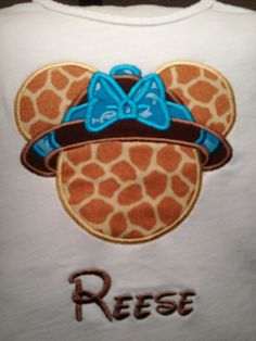 Disney Safari Animal Kingdom Applique Shirt by JamieSewCute, $19.99