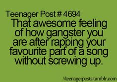 i get this feeling when sing super bass by nicki minaj!
