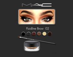 MAC cosimetics: Fluidline Brow 02 • Sims 4 Downloads