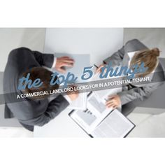 Do you know the top 5 things commercial landlords look for in a potential tenant?  #commercialrealestate #landlord #tenant #leasing #CRE