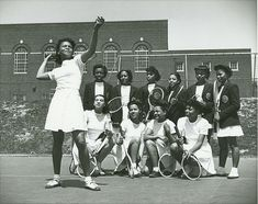 Women's Tennis Class, 1940s by Black History Album, via Flickr