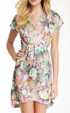 Meghan LA Holly Floral V-Neck Dress