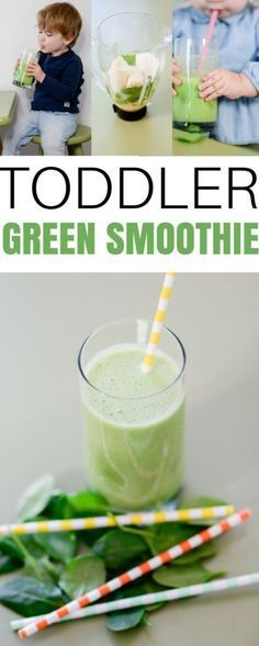 a great toddler green smoothie recipe for picky eaters to get in fruits and vegetables