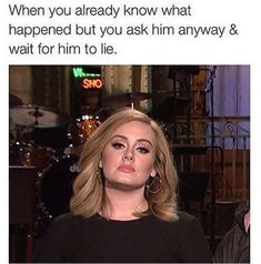 """""""This is not the Adele that will say hello. This is the Adele that will say goodbye, douche. Adele Meme, Adele Funny, Alice Walker, Regina George, Rasengan Vs Chidori, Samantha Jones, Funny Quotes, Funny Memes, Jokes"""
