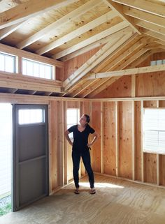 My Backyard Storage Shed Dreams Have Come True Our new Amish-built storage shed promises to solve our garage disorganization and our backyard landscaping issues while creating great workshop space. Backyard Storage Sheds, Storage Shed Plans, Backyard Sheds, Outdoor Sheds, Backyard Landscaping, Backyard House, Garden Sheds, Outdoor Storage, Storage Ideas