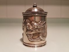 Late 19th century Chinese silver mustard pot by Wang Hing & Co. | eBay!