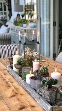 Dining Room Centerpiece, Dining Room Table Centerpieces, Decoration Table, Tray Decor, Rustic Centerpieces, Centerpiece Ideas, Everyday Table Centerpieces, Dining Table Decor Everyday, Outdoor Table Decor