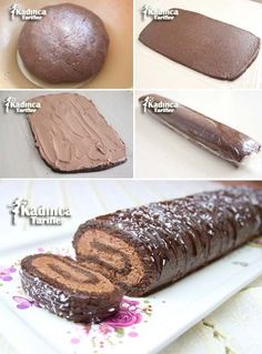 Easy Roll Cake Recipe with Cocoa, How to Make- Kakaolu Kolay Rulo Pasta Tarifi, … – Videolu Tarif – Nefis Yemek Tarifleri Cake Roll Recipes, Pastry Recipes, Easy Desserts, Dessert Recipes, Pasta Cake, Cocoa Cake, Foundant, Easy Rolls, Chocolate Roll