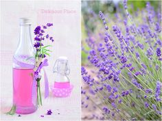 Delicious Place: Syrop lawendowy Preserves, Natural Remedies, Diy And Crafts, Glass Vase, Food And Drink, Herbs, Homemade, Drinks, Cooking